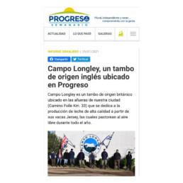 Progreso al Día en Campo Longley