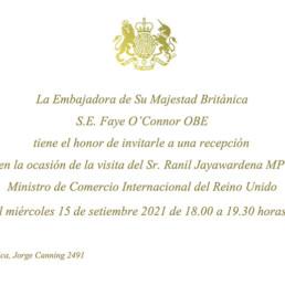 Invitación Embajada UK