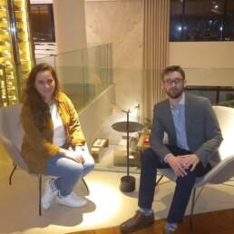 Sabina y Adam Patterson en Curitiba